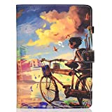 iPad Pro 11 Inch 2018 Case, Moses-Gift(TM) PU Leather Flip Slim Shell Folio Stand Smart Case with [Auto Sleep/Wake] Cover for Apple iPad Pro 11 Inch 2018 Release (Bike Boy)