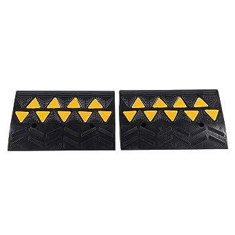 Rampas de goma Kerb Ramps, 2 rampas de goma resistente para umbral de silla de