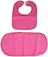 aBaby Terry Velour Infant Bib and Burp Cloth, Hot Pink