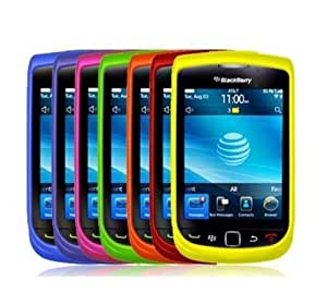 7-in-1 Colorful Rubberized Snap-On Hard Skin Case Cover Accessories for Blackberry Torch 9800 by ElectroMaster