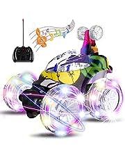 UTTORA Auto Telecomandata, Macchina Telecomandata con 360 Rotazione RC Auto con Musica e luci a LED, Ideale Regalo Giocattolo per Bambini(Colore Mimetico)