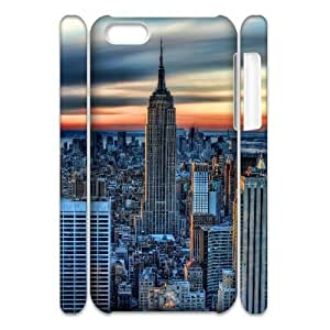 3D [New York2] New York City Hdr Case for IPhone 5C, IPhone 5C Case {White}