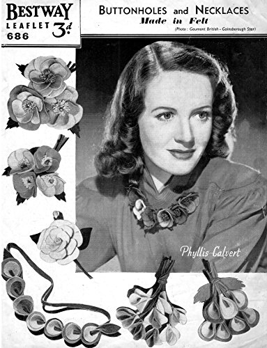 Craft Pattern Buttonholes Brooches Corsages and Necklaces in Felt Vintage ()