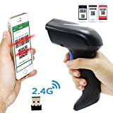 2D 2.4G Wireless Barcode Scanner,Symcode CCD Wireless 2.4G Bar Code Scanner Reader with Long Transfer Distance for Mobile Payment