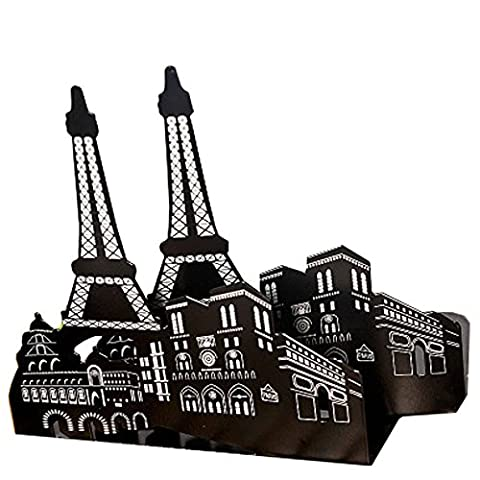 Y-H Paris Eiffel tower One Pair Vintage Fashion European Architecture Style Thickening Iron Library School Office Home Study Metal Bookends (Eiffel Tower Dvd Tower)