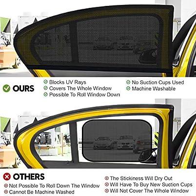 2 St/ück Auto Sonnenschutz Autofenster Seitenfenster Windowsox Sonnenblende Sonnenschutzrollo Auto Accessories Kinder UV Sonnenschutz Autos WEARXI Sonnenschutz Auto Baby mit UV Schutz 40 x 20 Inch
