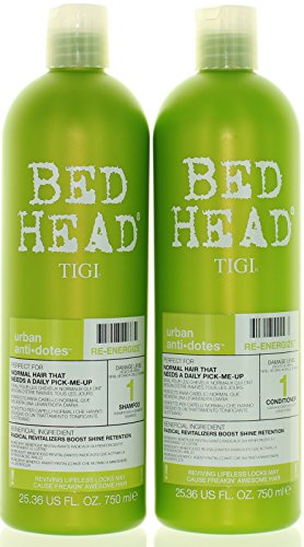 Bed Shampoo - TIGI Bed Head Re-Energize Shampoo and Conditioner Duo, 25.36 oz