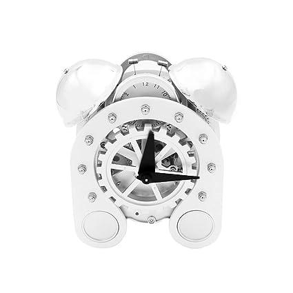 Table Clock Home Escritorio Reloj Engranajes Relojes de Mesa para la Sala de Estar Decoración Sin
