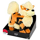"""Exclusive Officially Licensed 12"""" Jumbo Pokemon Arcanine Plush Toy With Stand"""