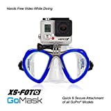 Diving Mask For GoPro - BLUE - Built-in Stainless Steel Camera Mount - GoMask by XS Foto - GoPro Hero4, Hero 3+ by XS Foto (MA560BU)