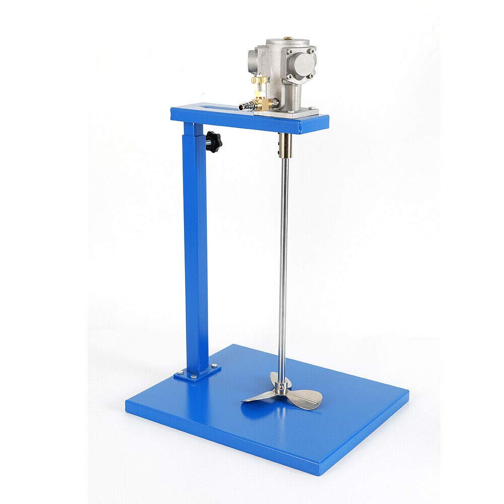 WUPYI Pneumatic Paint Mixer Machine,5 Gallon Automatic Paint Mixer Shaker Machine Ink Coating Mixing Tool,with Stand and Shaft,Height Adjustable,1/8HP