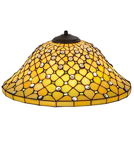 Meyda Tiffany 37421 Diamond & Jewel Recurve Lamp Shade, 18'' by Meyda Tiffany