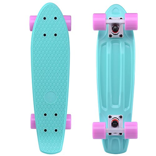 Great Features Of Playshion Complete 22'' Mini Cruiser Skateboard For Beginner With Sturdy Deck