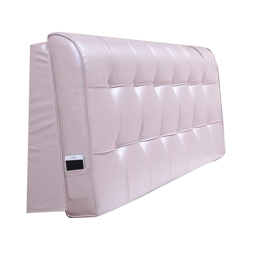 OLLY-ヘッドボード クッショ レザーベッドサイドバッククッション完全ラップベッドヘッドダブルラージピローソファソフトウエストピロー保護ウエスト (色 : Light pink, サイズ さいず : 160X58CM) B07PYGRJWJ