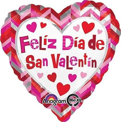 Amazoncom LuftBalloons Std Feliz Dia de San Valentin Chevron Globo