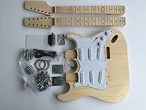 diy electric guitar kit double neck 6 string 12 string guitar musical instruments. Black Bedroom Furniture Sets. Home Design Ideas