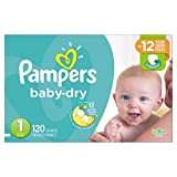 Health & Personal Care : Pampers Baby-Dry Disposable Diapers Size 1, 120 Count, SUPER