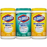 #8: Clorox Disinfecting Wipes Value Pack, Fresh Scent and Citrus Blend, 225 Count (Packaging May Vary)