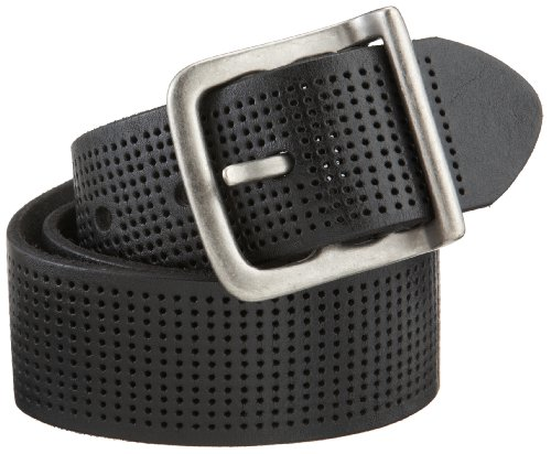 Bill Adler Men's Wide Perforated Belt, Black, 36
