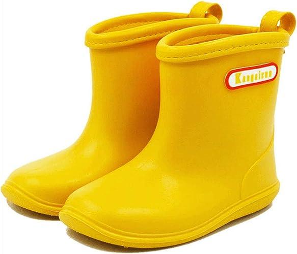 BAIYOU Baby Rubber Rain Boots Kids