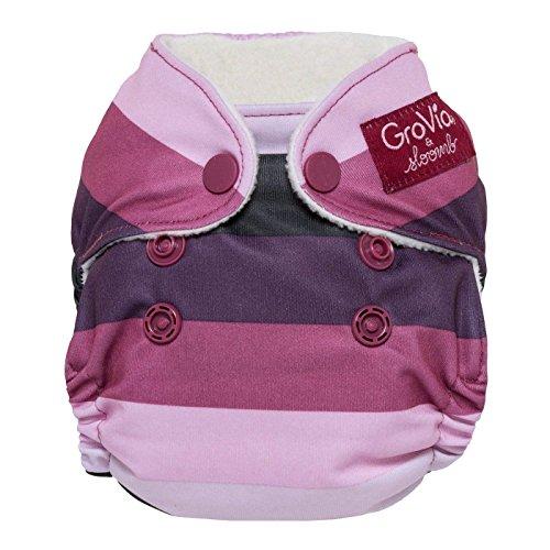 GroVia Newborn All in One Snap Reusable Cloth Diaper (AIO) (Sugar ()