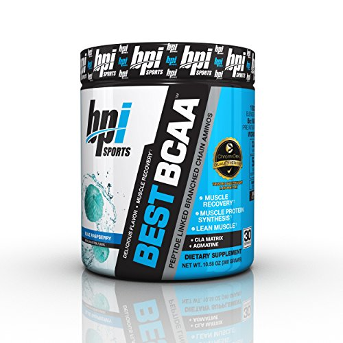 BPI Sports Best BCAA Powder, Blue Raspberry, 10.58 Ounce by BPI Sports