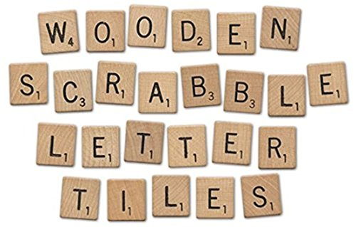 GUAngqi Wooden Scrabble Tiles Full Set Of 100, Craft, Board Games, Jewellery Making Kit