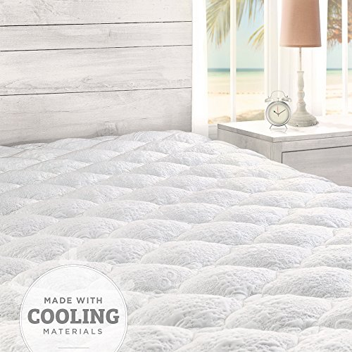 Cooling Overfilled Pillow Top Mattress Pad/Topper with Fitted Skirt, California King by Cardinal & Crest