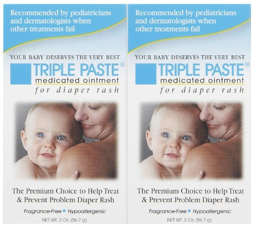 - Triple Paste Medicated Ointment for Diaper Rash - Fragrance Free - 2 oz - 2 pk