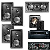 Klipsch R-2650-W In Wall 5.1 System-BIC pl-200-Onkyo TX-NR626 7.2-Ch