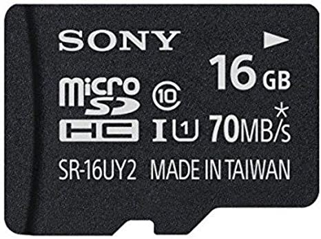 Sony 16GB Class 10 UHS-1 Micro SDHC up to 70MB/s Memory Card (SR16UY2A/TQ)[NEWEST VERSION]