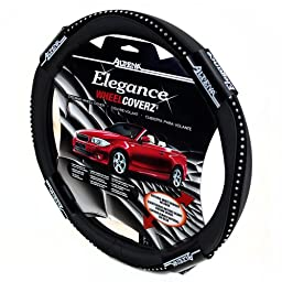 Alpena 10403 Black Bling Steering Wheel Cover
