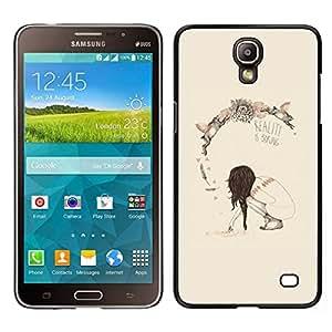 EJOY---Cubierta de la caja de protección para la piel dura ** Samsung Galaxy Mega 2 ** --Primavera Realidad Profundo Significado Boring