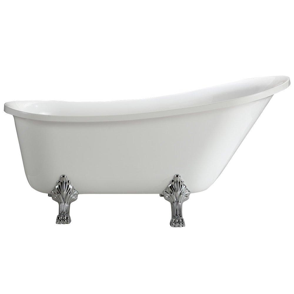 Vinnova 213063-BAT-WH-S Jacqueline 63 inch x 28 inch Soaking Bathtub