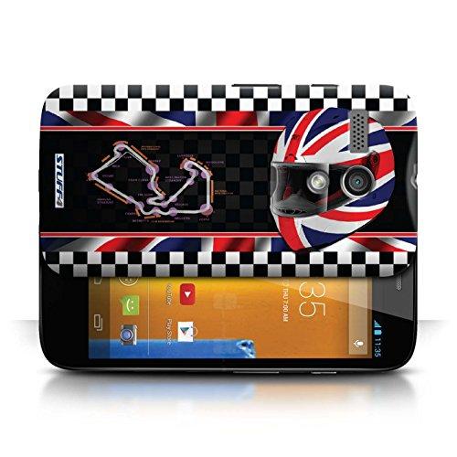 Etui / Coque pour Motorola MOTO G (2013) / UK/Silverstone conception / Collection de F1 Piste Drapeau