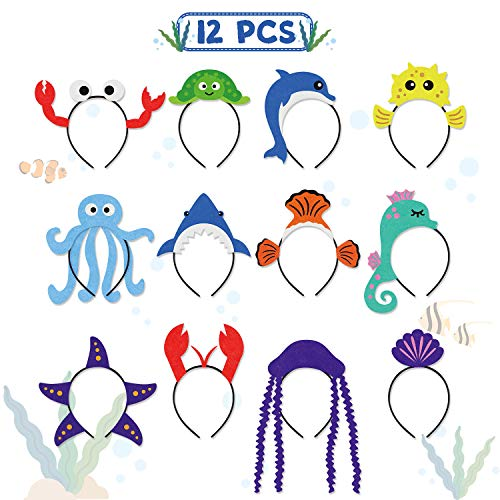 CiyvoLyeen Sea Animal Party Headband Under The Sea Themed Birthday Party Favors for Kids Costumes Dress-up Party -