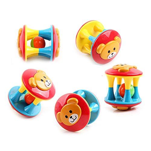 3 Campanelle in plastica per Bambini da 0 a 3 Anni Abilie