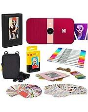 KODAK Smile Instant Print Digitale Camera (rood) fotolijsten bundel met zachte hoes