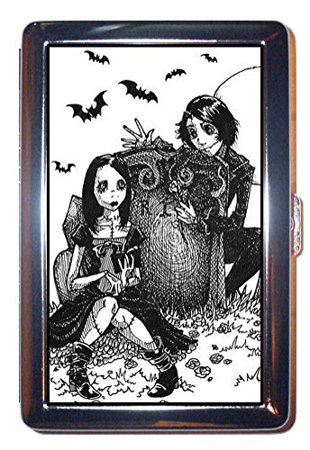 Gothic Horror Romance Victorian Bat Graveyard ID Wallet or Cigarette Case USA Made