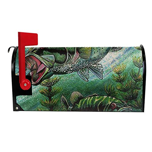 TARDIGA Bass Chasing Shads Magnetic Mailbox Cover Superior Weather Durability Standard Size Fits Mailbox