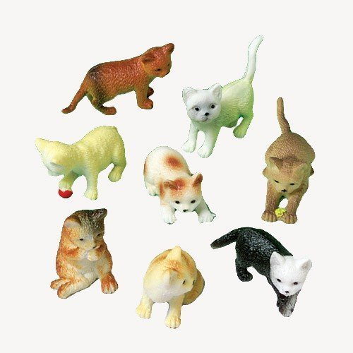 Figure Kitten - 2 Dozen (24) Mini Plastic CAT Figures KITTEN Kitty 2.5