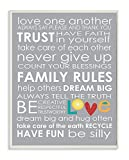 The Kids Room by Stupell Love One Another Family Rules on Grey Background Rectangle Wall Plaque