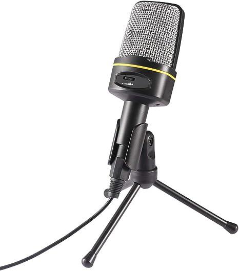 AOZBZ Micrófono para PC con Mini Soporte Trípode Estudio ...