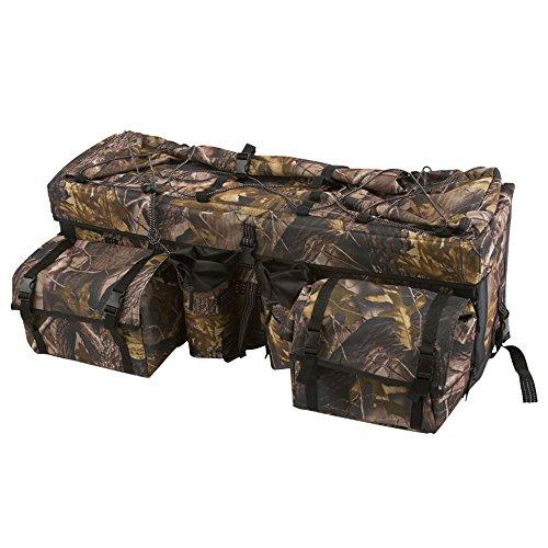 Black Widow Rage Powersports ATV-RBG-9030-CAMO Camouflage ATV Cargo Rack Gear Bag with Topside Bungee Tie-Down Storage (Atv Gear Bags)
