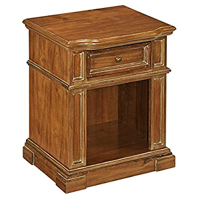 Home Styles Americana Vintage Nightstand - Dimensions: 40.25W x 18.5D x 72H in. Acacia wood solids Choose from available finishes - bedroom-furniture, nightstands, bedroom - 5102SZUdxdL. SS400  -
