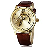 SEWOR Brand Retro Luxury Hollow Leather Watch Strap Men's Clock Automatic Mechanical Auto Watch