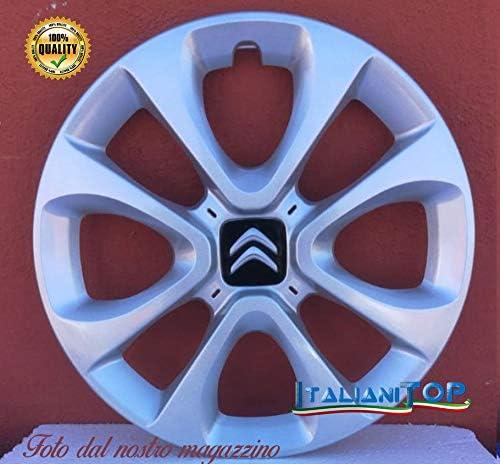 Generico Citroen C3 Quattro 4 Radzierblenden Code 6124 5 Durchmesser 15 Zoll Neues Produkt Auto