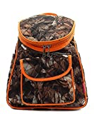 BNB Natural Camouflage Print Canvas Small Backpack Handbag Orange