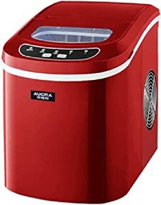 Ice Maker Machine - Portable Counter Top Ice Machine - New Compact Model - No Plumbing Required - 15kg Ice In 24 Hours - Red