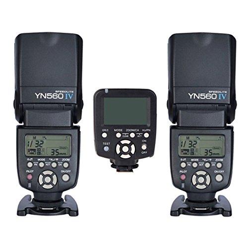 Yongnuo 2pcs YN560 IV Flash kit +YN560TX LCD Wireless Flash Controller For Nikon by Yongnuo